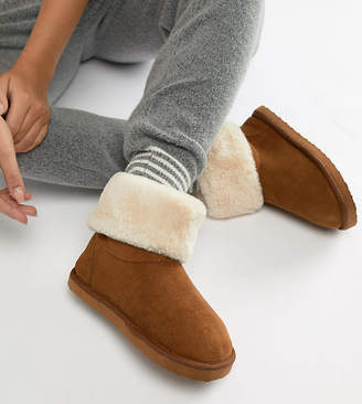 Asos Design DESIGN Wide Fit Nolan Boot Slippers