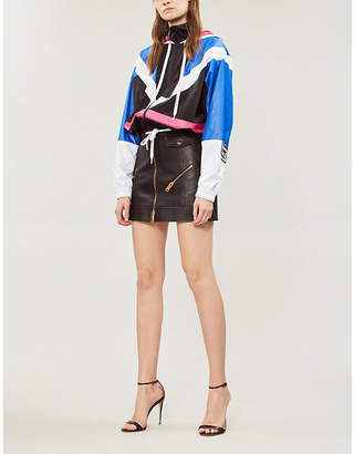Versace Colour-blocked shell jacket
