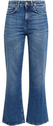 7 For All Mankind Faded High-rise Kick-flare Pants