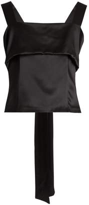 ADAM by Adam Lippes Sleeveless bow silk-charmeuse top