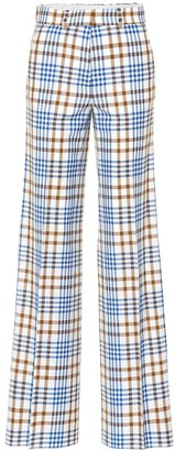 Victoria Beckham Wool and mohair plaid pants