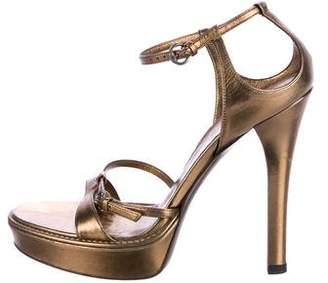 Gucci Metallic Platform Sandals