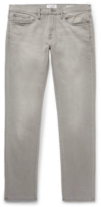 Frame L'Homme Slim-Fit Stretch-Denim Jeans - Men - Gray