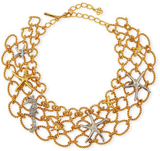 Oscar de la Renta Fishnet Starfish Necklace