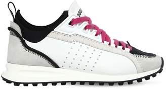 DSQUARED2 30mm 2 Run Suede & Neoprene Sneakers