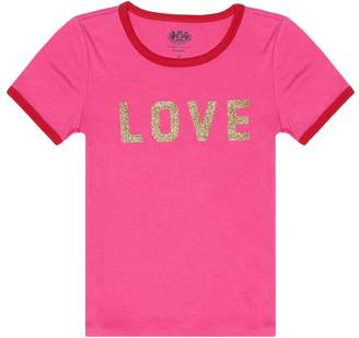 Juicy Couture Love Juicy Short Sleeve Ringer Tee for Girls