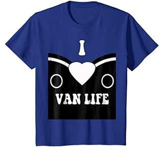 Classic Bus I Love Van Life Old School Hippy Pride T-Shirt