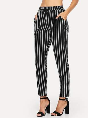 ce607f10ed Black And White Vertical Striped Pants - ShopStyle