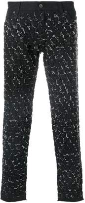 Dolce & Gabbana weave stitched trousers
