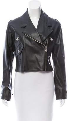 Versus Leather Moto Jacket