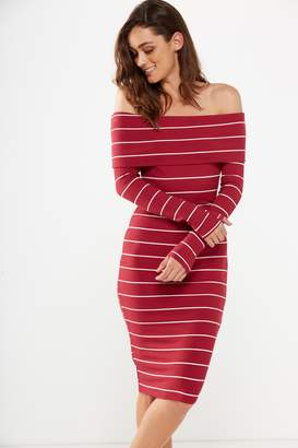 Cotton On Alisa Long Sleeve Off The Shoulder Dress