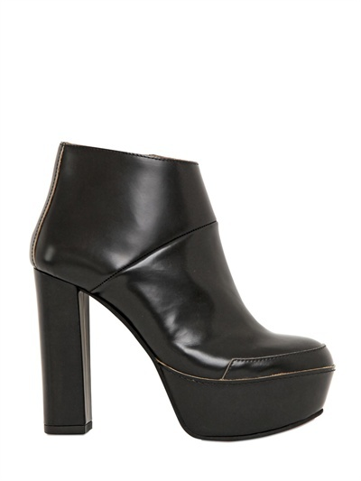 Marni 120mm Brushed Calfskin Ankle Boots