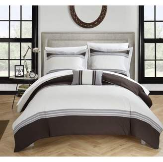 Hotel Collection Chic Home 8-Piece Sawyer Bed In a Bag Duvet Set