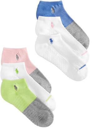 Polo Ralph Lauren Women's 6-Pk. Colorblocked Low-Cut Socks