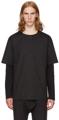 Phoebe English Black Double Button Shirt