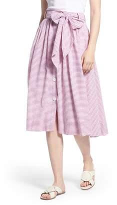 1901 Bow Button Up Stripe Skirt
