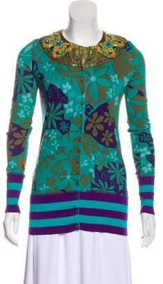 Blumarine Embellished Knit Cardigan