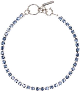 Justine Clenquet SSENSE Exclusive Blue Kelsey Necklace