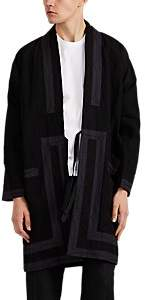 Visvim Men's Embroidered Cotton-Linen Kimono Jacket - Black