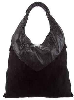 Helmut Lang Suede Shoulder Bag