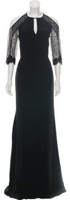 Roland Mouret Lace Sleeve Maxi Dress w/ Tags Black Lace Sleeve Maxi Dress w/ Tags