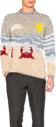 Thom Browne Beach Scene Icon Jacquard Pullover Sweater $480 thestylecure.com
