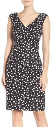 Women's Adrianna Papell Polka Dot Sheath Dress $140 thestylecure.com