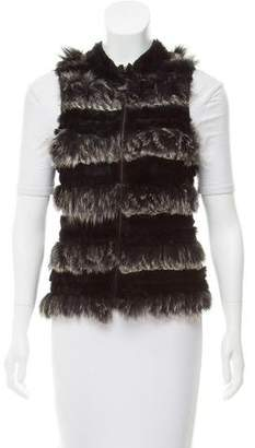 Adrienne Landau Zip-Up Rabbit Vest