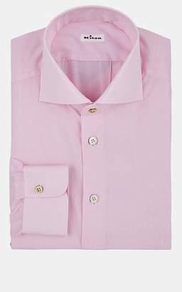 Kiton Men's Micro-Checked Cotton Dress Shirt - Pink