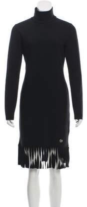 Blumarine Wool Long Sleeve Mini Dress