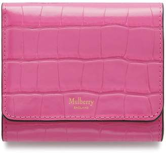 Mulberry Small Continental French Purse Raspberry Pink Shiny Croc