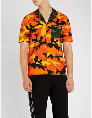 Valentino Camouflage-print cotton shirt