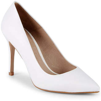 Saks Fifth Avenue Classic Leather Point Toe Pump