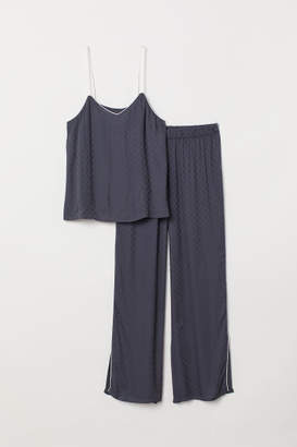 H&M Pajama Camisole and Pants - Blue