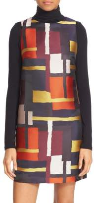 Alice + Olivia AN TEST 32 Print Sleeveless A-Line Dress