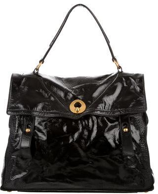 Saint LaurentYves Saint Laurent Patent Leather Muse Two Bag