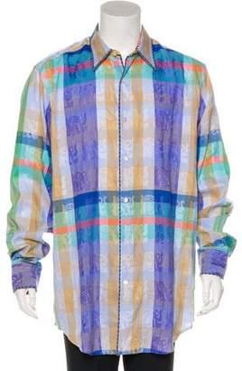 Robert Graham Gagli Plaid Jacquard Shirt w/ Tags