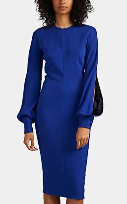 Victoria Beckham Women's Slashed-Sleeve Fitted Dress - Royal Blue