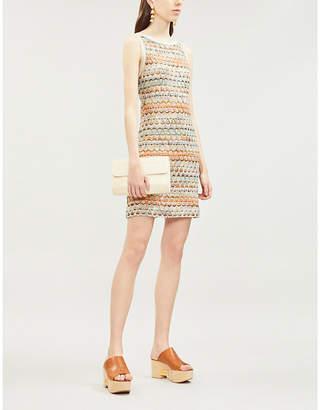 9f2b072eae Missoni Zig-zag patterned fringed cotton-blend dress
