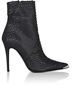 Amiri Women's Snakeskin-Embossed Leather Ankle Boots - Black