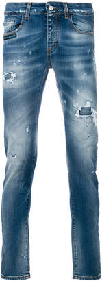 Frankie Morello distressed slim-fit jeans