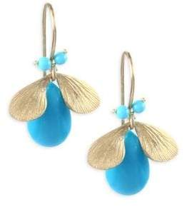 Annette Ferdinandsen Fauna Turquoise& 14K Yellow Gold Earrings