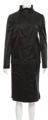 Dolce & Gabbana Satin Trench Coat w/ Tags