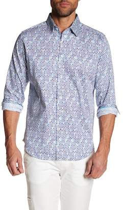 Robert Graham Printed Slim Fit Dress Shirt