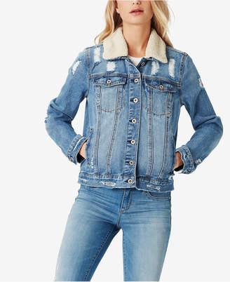 Jessica Simpson Juniors' Reagan Fleece Denim Jacket