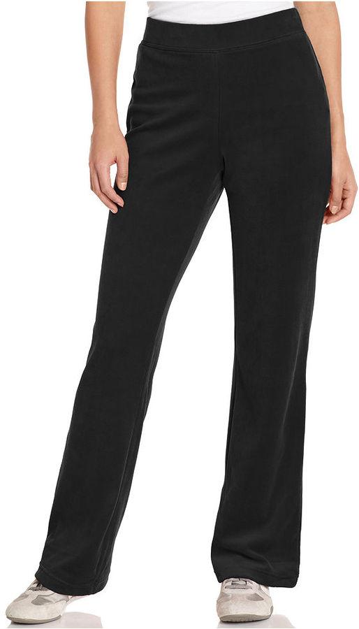Style&Co. Sport Pants, Straight-Leg Velour Lounge