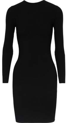 Helmut Lang Cutout Stretch-Knit Mini Dress
