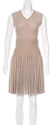Alaia Jacquard Knee Length Dress