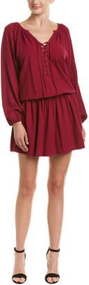 Olivaceous Jacquard Drop-Waist Dress