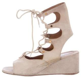 Chloé Lace-Up Wedge Sandals